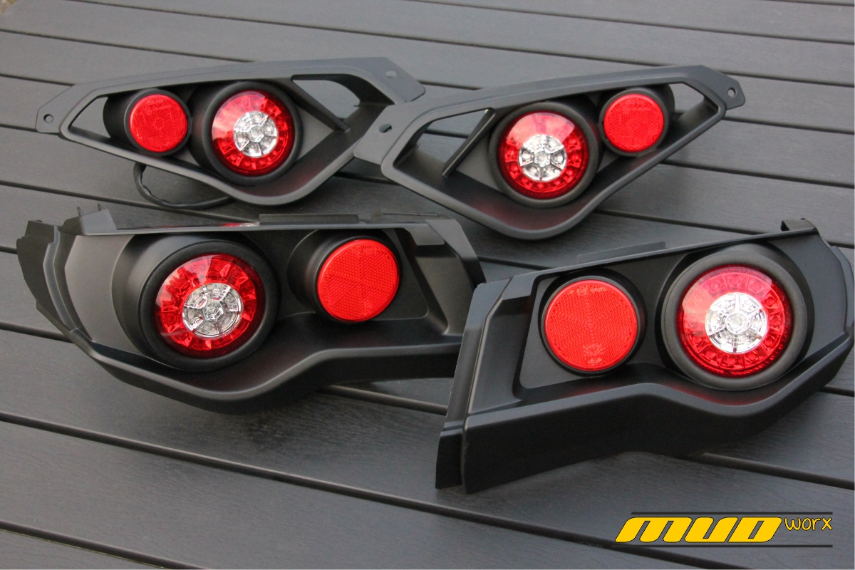 Can Am Outlander and Renegade Led  Rear Lights Mudworx 1